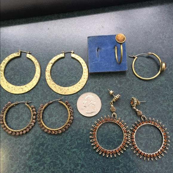 240229df40db9 4 pair Avon pierced earrings vintage hoops/posts